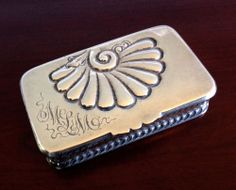 FINE HOWARD & CO. Sterling Silver STAMP SNUFF BOX ANTIQUE Nouveau VICTORIAN