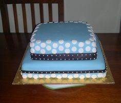 My 2 boys baptism cake By Aimee17 on CakeCentral.com