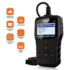 OBD Diagnostic Scanner THZY NI100 Universal Diagnostic scan tool Car Engine Fault Code Reader Battery Health Check scan tool for AUDI/VW/FORD/GM/CHRYSLER/BENZ/BMW/PORSCHE car, SUV, light duty vehicle. For product info go to:  https://www.caraccessoriesonlinemarket.com/obd-diagnostic-scanner-thzy-ni100-universal-diagnostic-scan-tool-car-engine-fault-code-reader-battery-health-check-scan-tool-for-audivwfordgmchryslerbenzbmwporsche-car-suv-light-duty-vehicle/