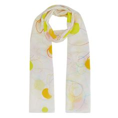 Made from lightweight sheer silk, this scarf has a colourful block print pattern with a delicate rolled hem. The design has been created exclusively for Tate by Rachel Whiteread to celebrate her 2017 exhibition at Tate Britain.  Although Whiteread is renowned for her evocative large- scale sculptures and castings, drawing has always remained one of her core activities.