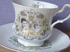 vintage English bone china tea cup and saucer set by ShoponSherman,