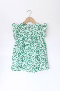 Green Floral Cotton Dress | SwallowsReturn on Etsy