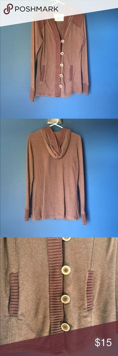Natural reflections size medium brown sweater Brown hooded sweater from natural reflections. Size medium. Heavier material. Perfect for late fall or winter. Never been worn. Natural Reflections Sweaters
