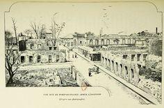 Fort de France après l'incendie de 1890 En 1890, un incendie ravage la ville de Fort de France. La cathédrale Saint-Louis, la bibliothèque Schoelcher, le marché couvert et la plupart des rues commerçantes du centre-ville disparaissent dans les flammes
