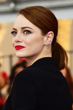 The Bold & The Beautiful At The SAG Awards #refinery29 http://www.refinery29.com/2015/01/81271/best-beauty-looks-sag-awards-2015#slide-9 Emma Stone That ponytail. That red lip. Who knew such old-school classics could look so of the moment? We bow down to the style queen. For those wondering, that red pout would be courtesy of Revlon Ultra HD Lipstick in Gladiolus. We'll be right behind you in line to snap it up.