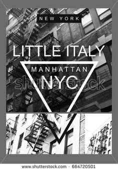Photo print New York little Italy illustration, tee shirt graphics, New York typography Shirt Print Design, Tee Shirt Designs, Custom T Shirt Printing, Printed Tees, Italy Illustration, Graph Design, Casual Wear For Men, Black And White Prints, Little Italy