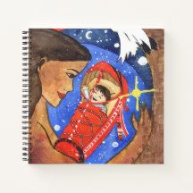 Sarahkka Goddess of Motherhood and Giving Birth Notebook Winter Fairy, Winter Magic, Star Goddess, Celtic Mythology, Curious Cat, Witch House, Cat Sleeping, Watercolor Rose, Faeries