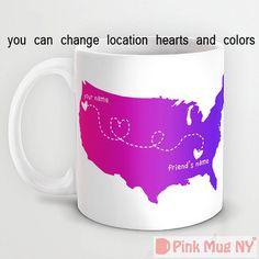 Personalized mug cup designed PinkMugNY  Long by PinkMugNY on Etsy, $10.95