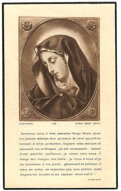 Mater Dolorosa Grieving Mother Mary Vintage French Holy Prayer Card, Catholic Gift