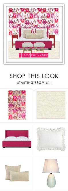 """""""pink and red"""" by qqamrah on Polyvore featuring interior, interiors, interior design, home, home decor, interior decorating, West Elm, Pier 1 Imports and Jayson Home"""