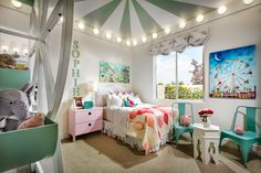 It's all fun and games in this carnival themed bedroom. (Toll Brothers at Montecito, NV)