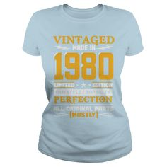Vintaged Made In 1980 Limited Editon T-Shirt #gift #ideas #Popular #Everything #Videos #Shop #Animals #pets #Architecture #Art #Cars #motorcycles #Celebrities #DIY #crafts #Design #Education #Entertainment #Food #drink #Gardening #Geek #Hair #beauty #Health #fitness #History #Holidays #events #Home decor #Humor #Illustrations #posters #Kids #parenting #Men #Outdoors #Photography #Products #Quotes #Science #nature #Sports #Tattoos #Technology #Travel #Weddings #Women