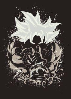 Dragon Ball Super - Goku Master Ultra Instinct Dragon Ball Super - Goku Master Ultra Instinct Gallery quality print on thick / metal plate. Dragon Ball Gt, Wallpaper Do Goku, Animes Wallpapers, Anime Art, Fan Art, Artwork, Graphics, Goku Ultra Instinct, Hologram