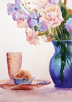 Bobbi Price ~ The Blue Vase | http://fineartamerica.com/featured/1-the-blue-vase-bobbi-price.html
