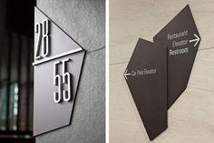 Chic, modern ideas for signage.