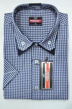Koszula Męska Modely DH6A-9-CT  Kr. Rękaw (S-2XL)