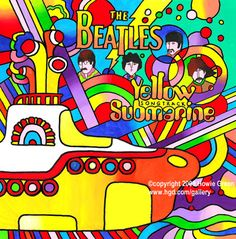 Album: Yellow Submarine. Band: The Beatles (1969)  Art design:Heinz Edelmann