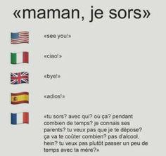 JSP si c vrai pour les autres pays mais en France en tt cas c vrai Funny Images, Funny Pictures, Ah Ok, Funny Facts, Funny Jokes, Funny Moments, Funny Things, Funny Stuff, Funny Comics