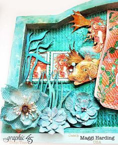 Wall hanging, Voyage Beneath the Sea, Tutorial, Maggi Harding, Graphic 45 (1)