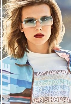#milliebobbybrown Millie Bobby Brown, English Actresses, Actors & Actresses, Mirrored Sunglasses, Sunglasses Women, Penshoppe, Bobby Brown Stranger Things, Beautiful Person, Celebs