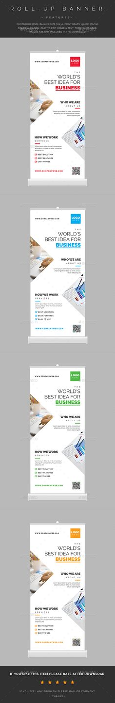 Corporate Roll-Up Banner — PSD Template roll-up designer flyer fashion… - Minimal Interior Design Rollup Design, Rollup Banner Design, Letterhead Template, Brochure Template, Standing Banner Design, Company Banner, Business Poster, Graphic Design Templates, Cool Business Cards