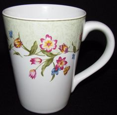 Epoch GARDEN BLOOM E204 Lot of 4 Mugs Dinnerware Excellent Condition by libertyhallgirl on Etsy SOLD