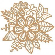 Stencil Deco Floral 046 Mascara Floral