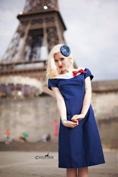 Ahoy There Sailor Girl Custom Dress