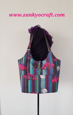 """""""Orchids and Onions"""" Shoulder Bag by Zankyo Craft featuring Copper Catkin fabric in Orchids and Onions"""