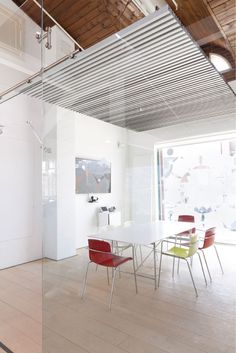 Hunter Douglas Architectural created the ceiling that had to be made: HeartFelt®. A modular felt ce. Hunter Douglas, Office Meeting, Architecture Office, Outdoor Decor, Office Spaces, Room, Ceilings, Offices, Acoustic