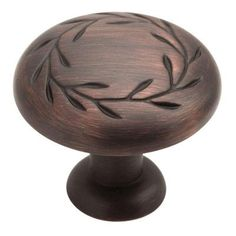 Amerock Inspirations 1-1/4 in. Oil Rubbed Bronze Cabinet Knob-BP1581-ORB - The Home Depot