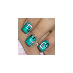 Bright Nail Art Designs ❤ liked on Polyvore