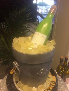 Wine bottle, wine bucket and tyre cake #winebucket