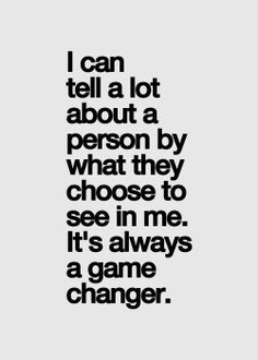 More Than Sayings: It's always a game changer
