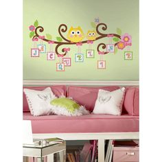 Happi Scroll Tree Letter Branch Peel & Stick Giant Wall Decal - RMK2079GM