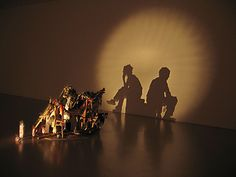 "At the MFA, a ""shadow sculpture"" by Tim Noble & Sue Webster"