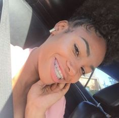 #braces #braces #goals Cute Girls With Braces, Cute Braces Colors, Braces And Glasses, Braces Tips, Braces Bands, Braces Retainer, Grills Teeth, Curly Hair Styles, Natural Hair Styles