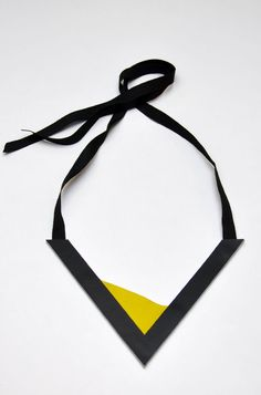 Aumorfia | Polygons | SS14 | V leather necklace side B