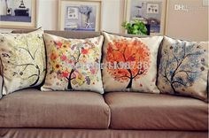 Wholesale B001 Ikea Decorative Cushions Home Decor Burlap Trees Sofa Throw Pillows Cushion Covers Pillowcase Almofadas Decorativas Cojines Replacement Seat Cushions For Outdoor Furniture Discount Outdoor Chair Cushions From Walmartstore, $41.94| Dhgate.Com