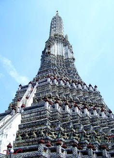 As high as you can climb is where Rand proposed... Wat Arun Temple in Bangkok, Thailand