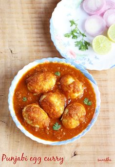 Egg curry made in Punjabi dhaba style. Simple, flavorful and delicious for your everyday meal to pair with roti, jeera rice or plain steamed rice.
