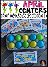 April And Spring Hands On Centers For Preschool. Is it accurate to say that you are Looking For Fun And Simple Thematic Centers That You Can Prep Quickly For Your Preschool Classroom? Preschool April Centers Was Created For Children Ages And Mature 3 Y April Preschool, Preschool Centers, Preschool Themes, Preschool Lessons, Preschool Activities, Preschool Eggs, Free Preschool, Spring Activities, Toddler Activities