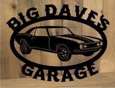 Metal cut out Classic Car sign from MetalDesignWorx.com. Can be personalized! Many designs!