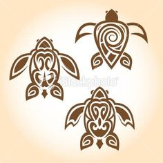 Stock Vector Turtle Tattoo Design