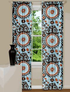 Suzani Curtains (great site for curtains and pillows)