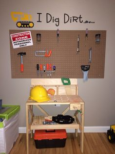 Diy toddler bed rail baby kid stuff pinterest bed for Construction themed bedroom ideas