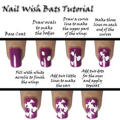 Nail Wish: Witches and Bats Tutorial