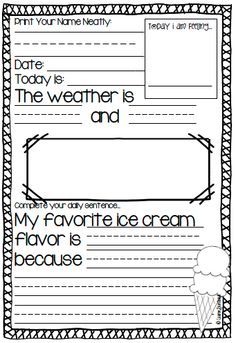Spring Writing Prompts  K        prompts for when the weather is Pinterest