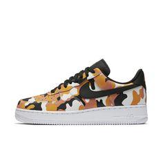 check out 16dbe a62e8 Nike Air Force 1  07 Low Camo Men s Shoe Size 11.5 (Orange)