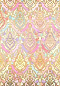 Rosy Opalescent Art Deco Pattern Art Print Motif Art Deco, Art Deco Pattern, Pattern Design, Of Wallpaper, Pattern Wallpaper, Iphone Wallpaper, Wallpaper Awesome, Rainbow Wallpaper, Textures Patterns
